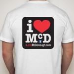I Love McDonough T-shirt