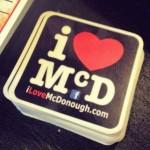 I Love McDonough Stickers